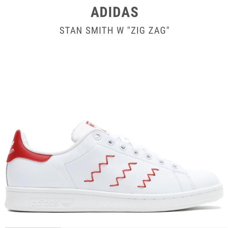 adidas stan smith zig zag red