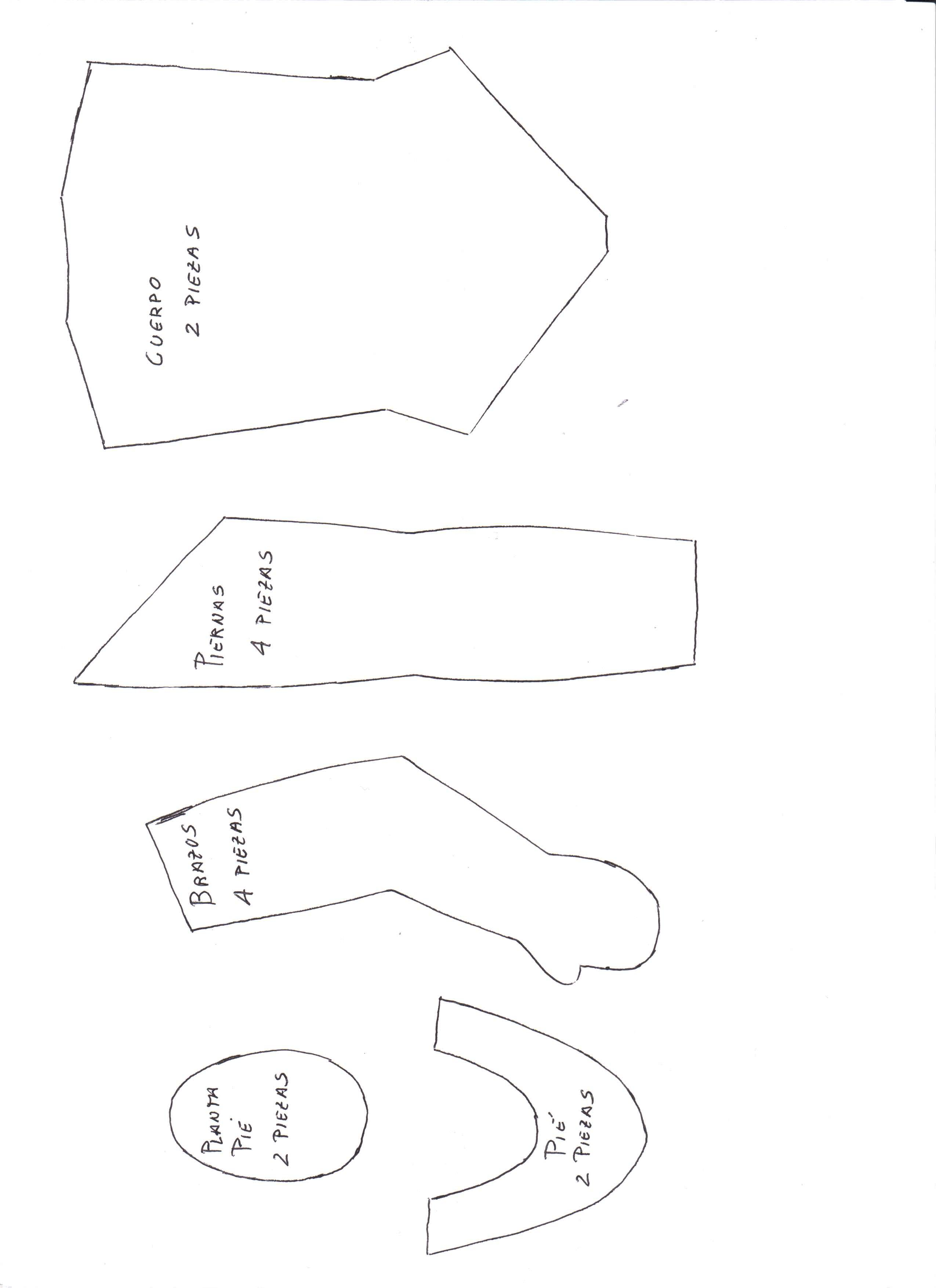 Patrones e instrucciones paso a paso para coser una muñeca de trapo ...