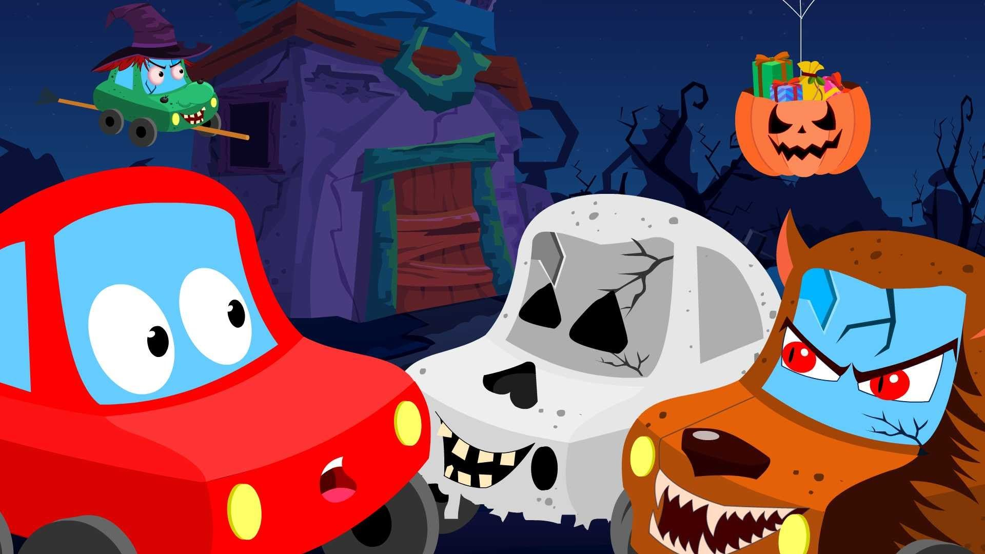 Little Red Car trick or treat Halloween videos for