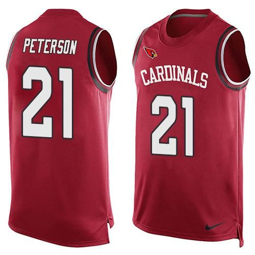 nfl arizona cardinals 21 patrick peterson red team color mens stitched nfl limited tank top