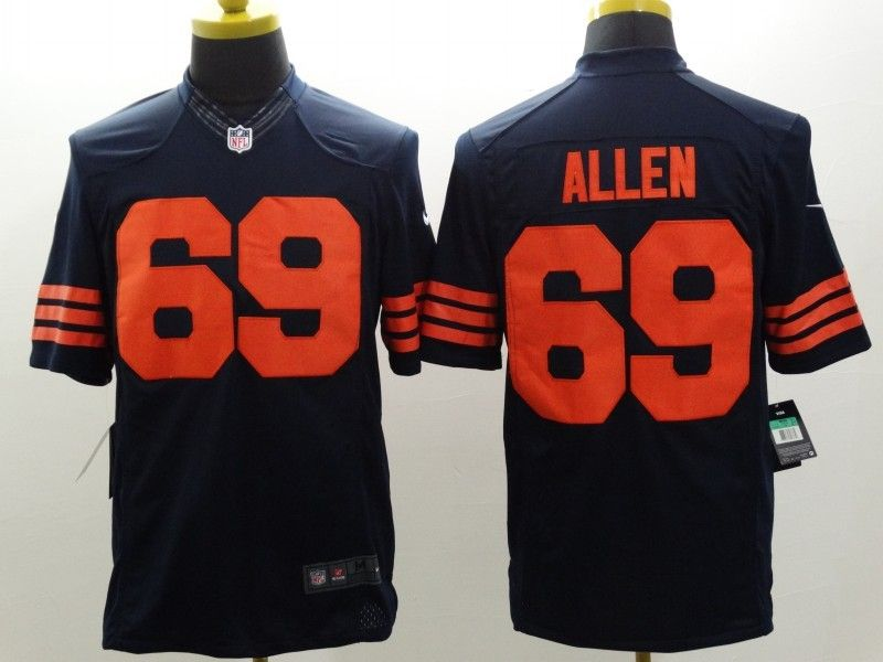Cheap Chicago Bears 69 Allen Blue Orange Nike Limited Jerseys | Chicago  for cheap