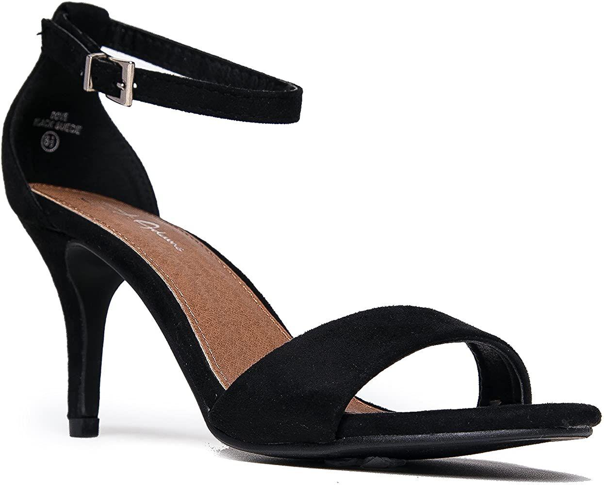 Amazon.com | J. Adams Ankle Strap Kitten Heel - Adorable