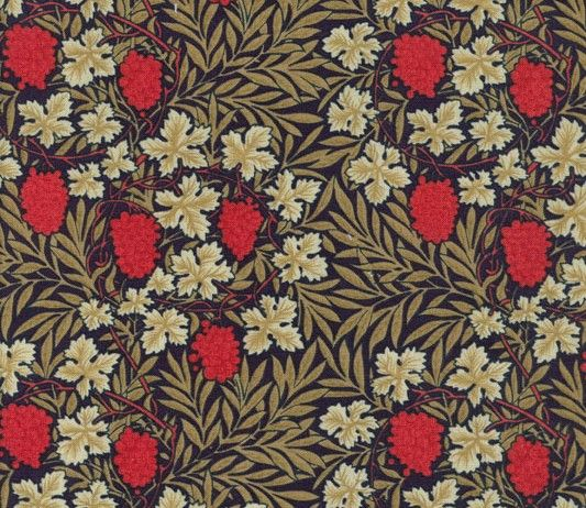 Ochre Leaves Berry Grapes  William Morris (1834-1896) was an