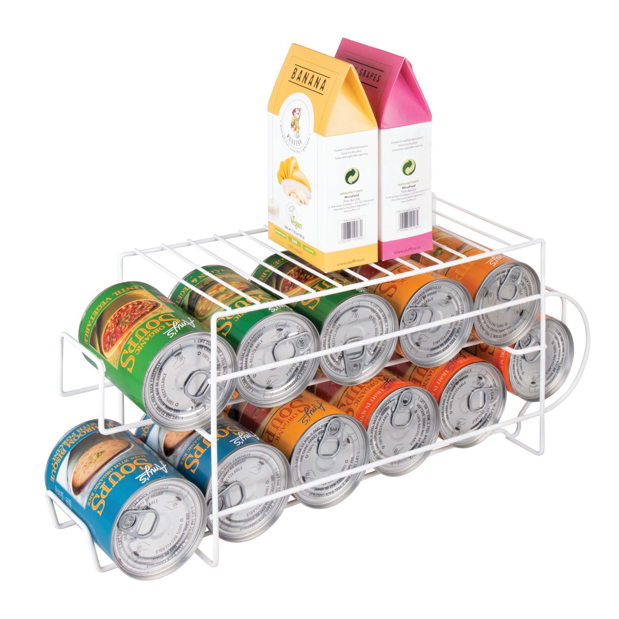 Large pop soda can storage dispenser fridge rack in 2020