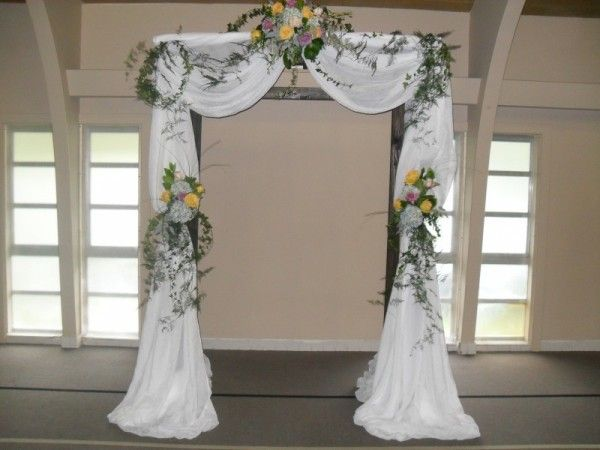 Photo Gallery Photo Of Arch Rentals With Beautiful Flowers Indoor Wedding Arches Wedding Arch Wedding Arch Rustic