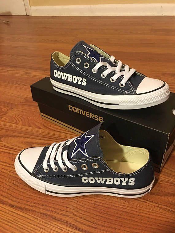 45b3246109b3 Custom Dallas Cowboys NFL Converse Cowboys Chuck Taylors