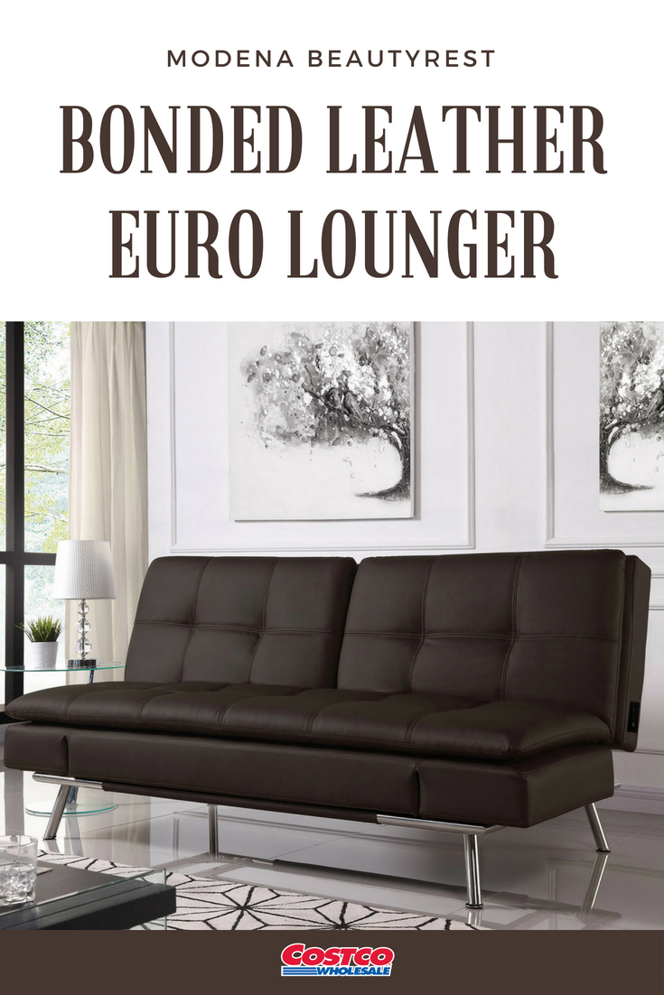 Exceptionnel Enjoy The Modern Styling Of The Modena Beautyrest® Bonded Leather Euro  Lounger In Your Home. This Multi Functional Euro Lounger Transforms Into A  Bed, ...