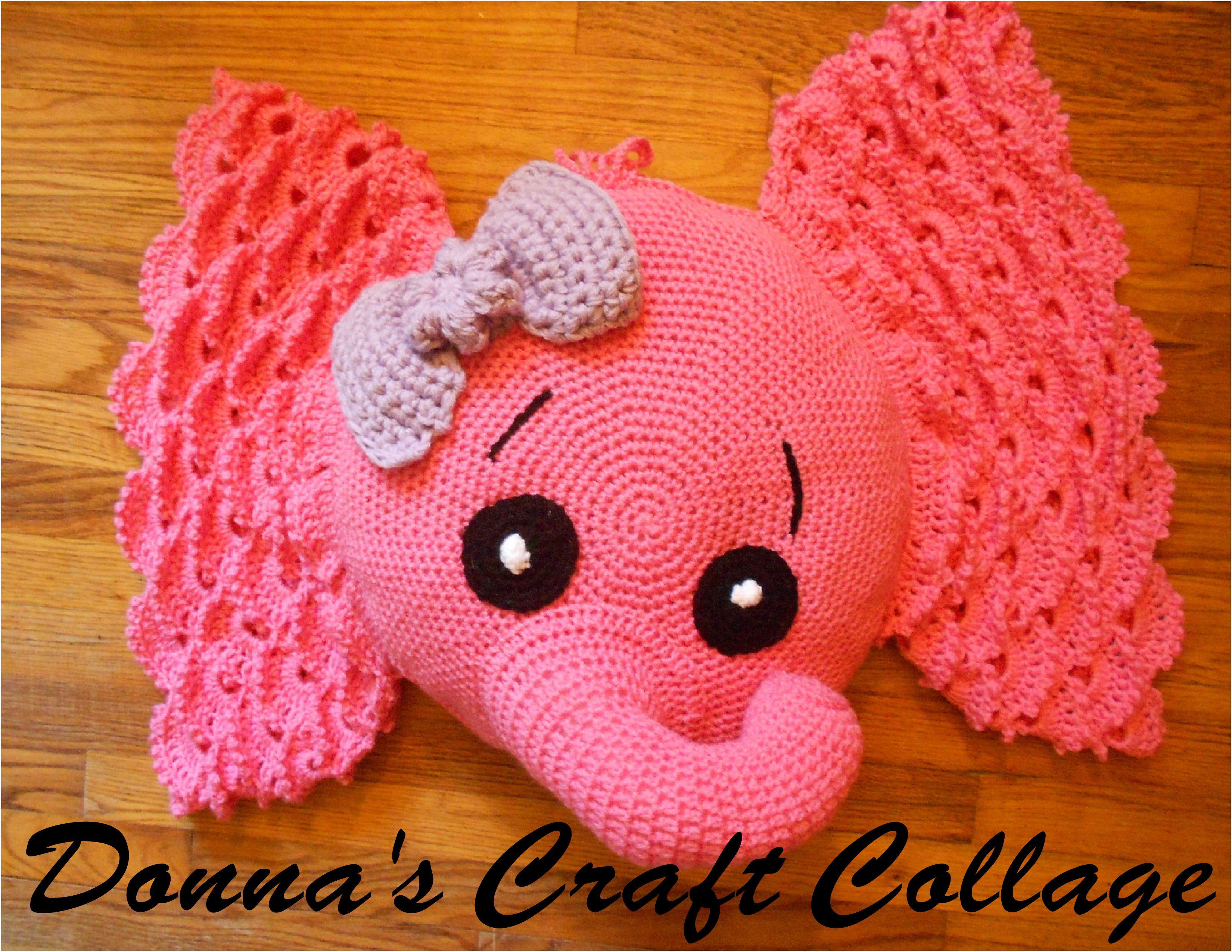 Josefina and Jeffery Elephant Pillow PDF Knitting Pattern Knitting ... | 2550x3300