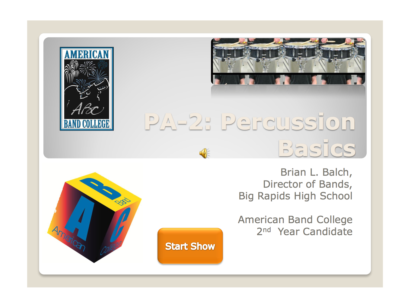 Percussion Basics By Brian Balch