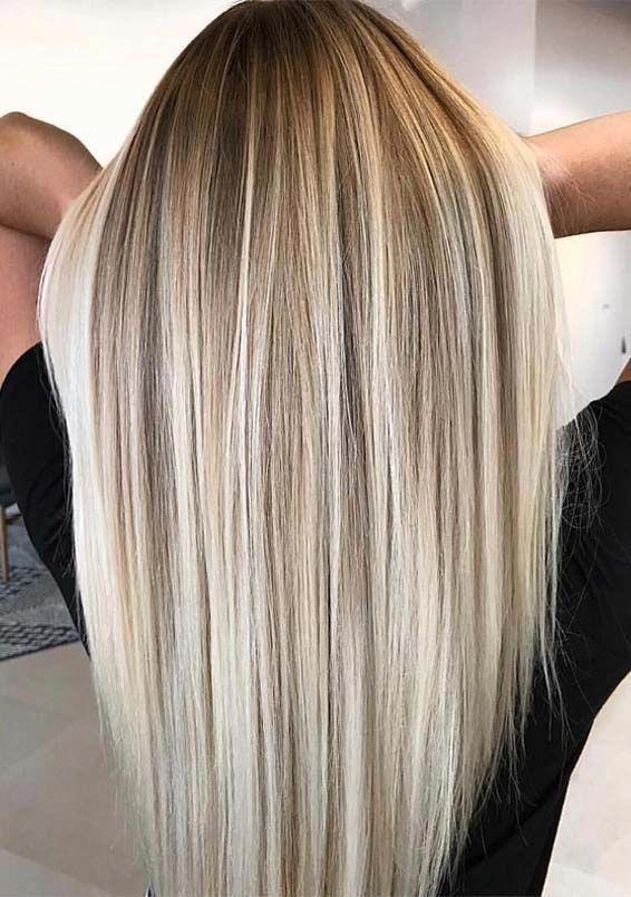 Le più belle miscele di colori di capelli balayage per taglio di capelli lunghi e medi …