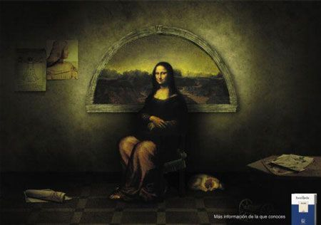 Advertising Inspired By Famous Painters Design Daily News Mona Lisa Famous Painters Mona Lisa Parody