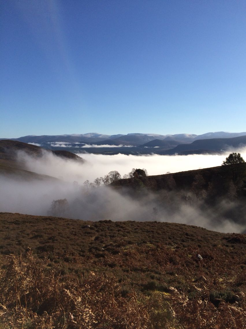 Aviemore from above the mist