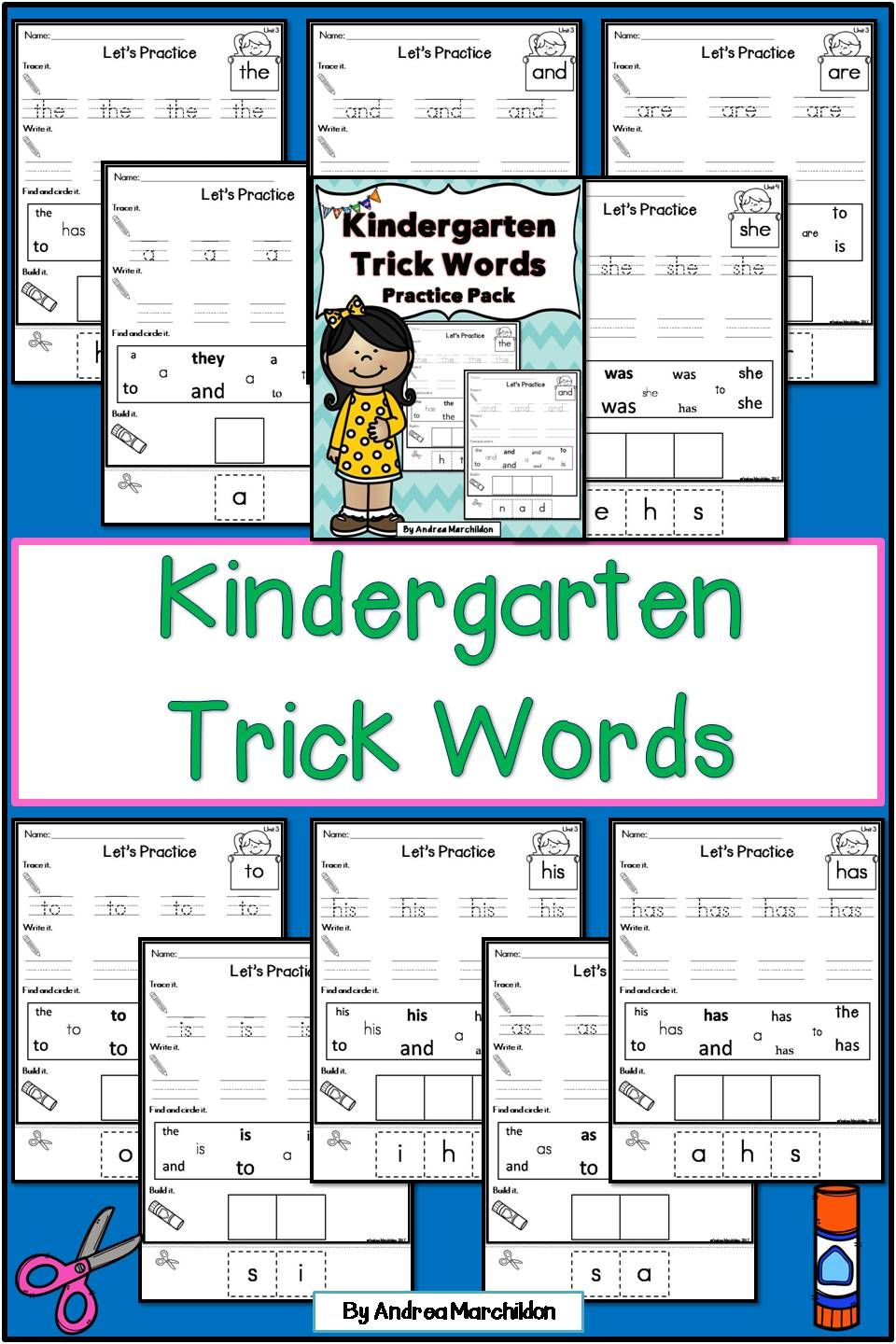 Tricky Words Worksheet For Kindergarten