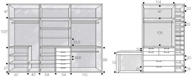 Armario Superior Cozinha Profundidade ~ medidas de closet Buscar con Google Interiors Closets Pinterest Armario, Buscar con