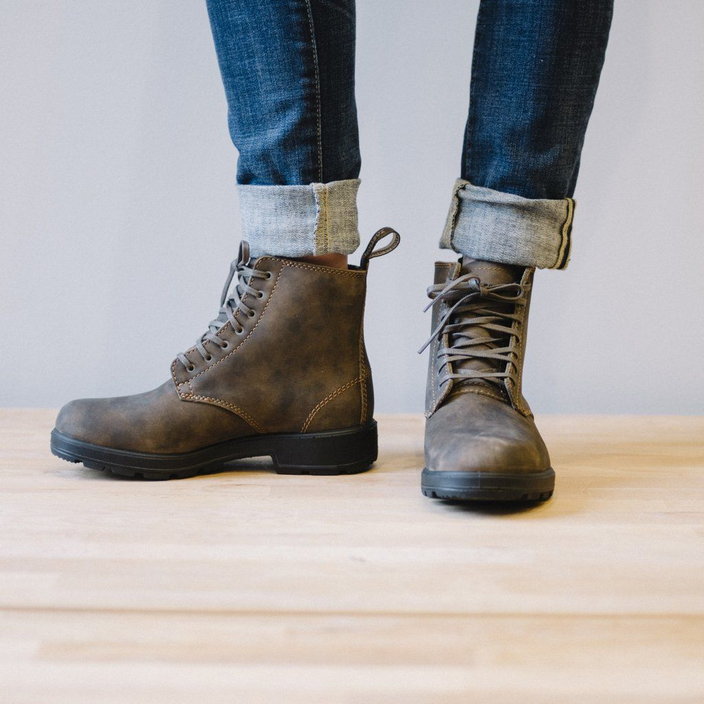 blundstone lace up rustic brown | sale