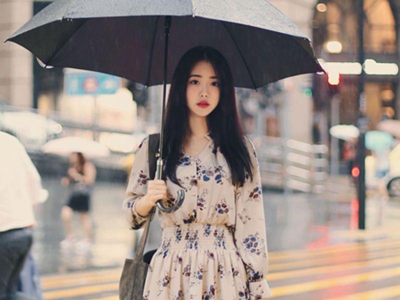 0c47b8873b Buy Angel Shine Long-Sleeved Floral Print Chiffon Dress   YesStyle