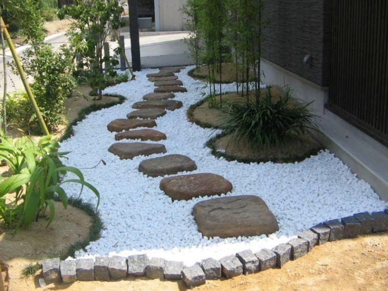 Le Gravier Decoratif Un Materiau Naturel Et Trendy En Amenagement De Jardin Moderne Amenagement De Jardin Moderne Amenagement Jardin Jardin Moderne