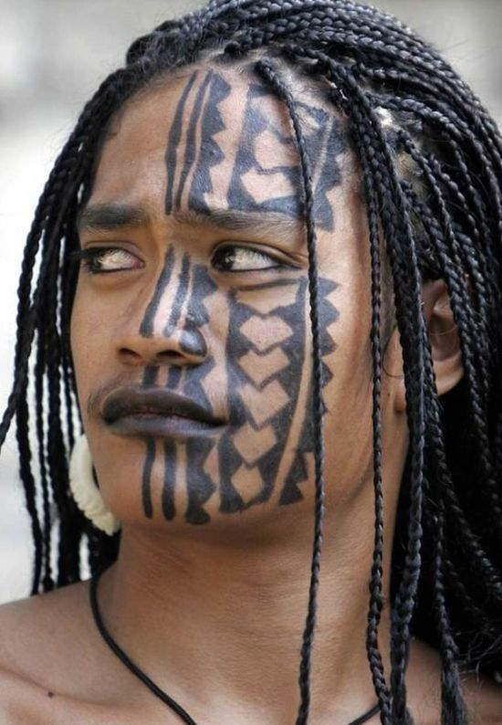 Polynesian Tribal Tattoos Via Ayub Mohamed Tribal Face Face Tattoos Tribal Face Tattoo