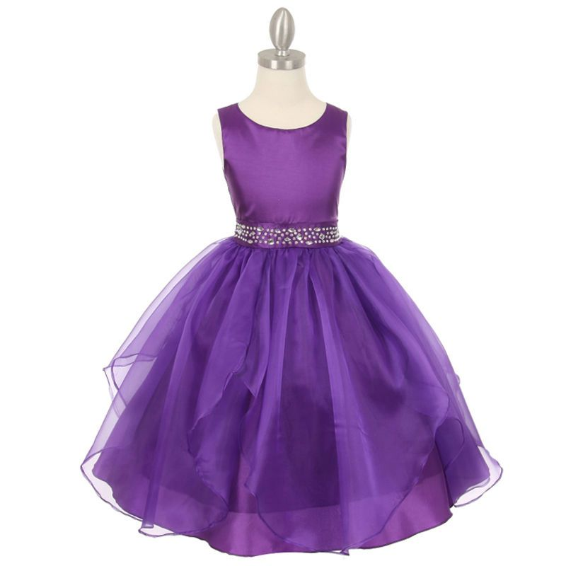 PURPLE Flower Girl Dresses Birthday Wedding Formal Pageant Party ...