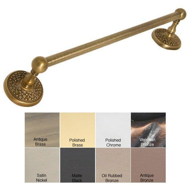 Photo of Allied Brass Monte Carlo 18-inch Towel Bar (Oil Rubbed Bronze), Brown