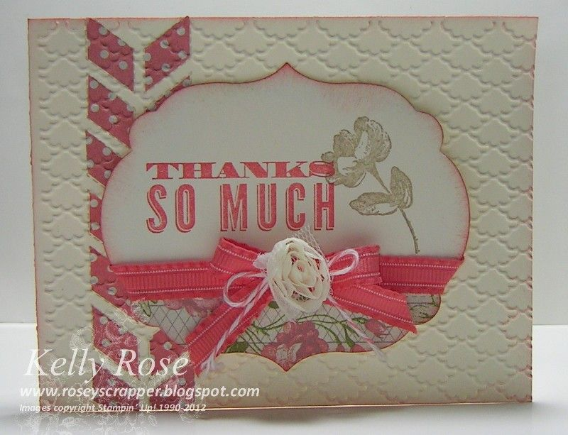 Kelly Rose, Independent Stampin' Up! Demonstrator: Oh Hello, Girly Thank You Card
