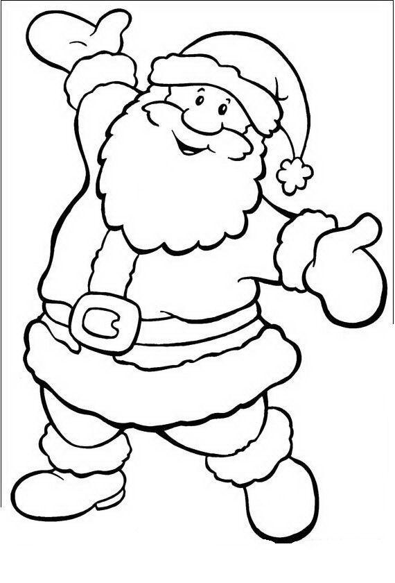 papa noel para pintar | patterns | Christmas, Christmas colors