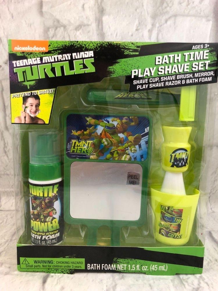 Nickelodeon Age Mutant Ninja Turtles Bath Time Play Shave Set New Gift