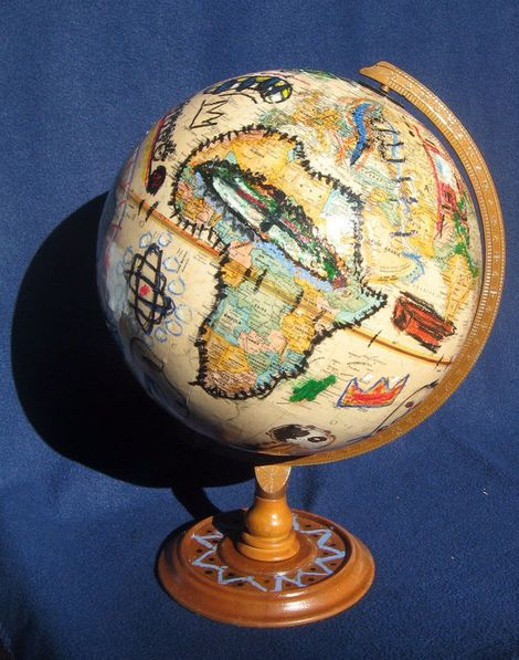 Globe By Jean Michel Basquiat Globe Globe Art Map Art