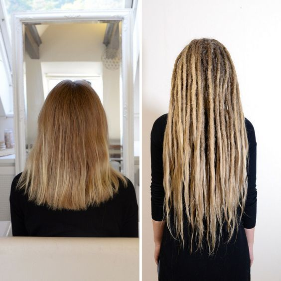 Here is a before and after shot of one of my clients. You don't need long hair to start your Dreadlock journey!
