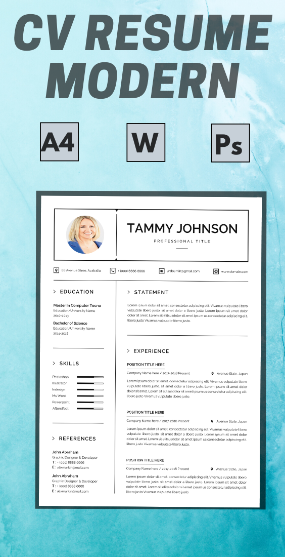 Resume And Cover Letter Template,Resume Template Instant