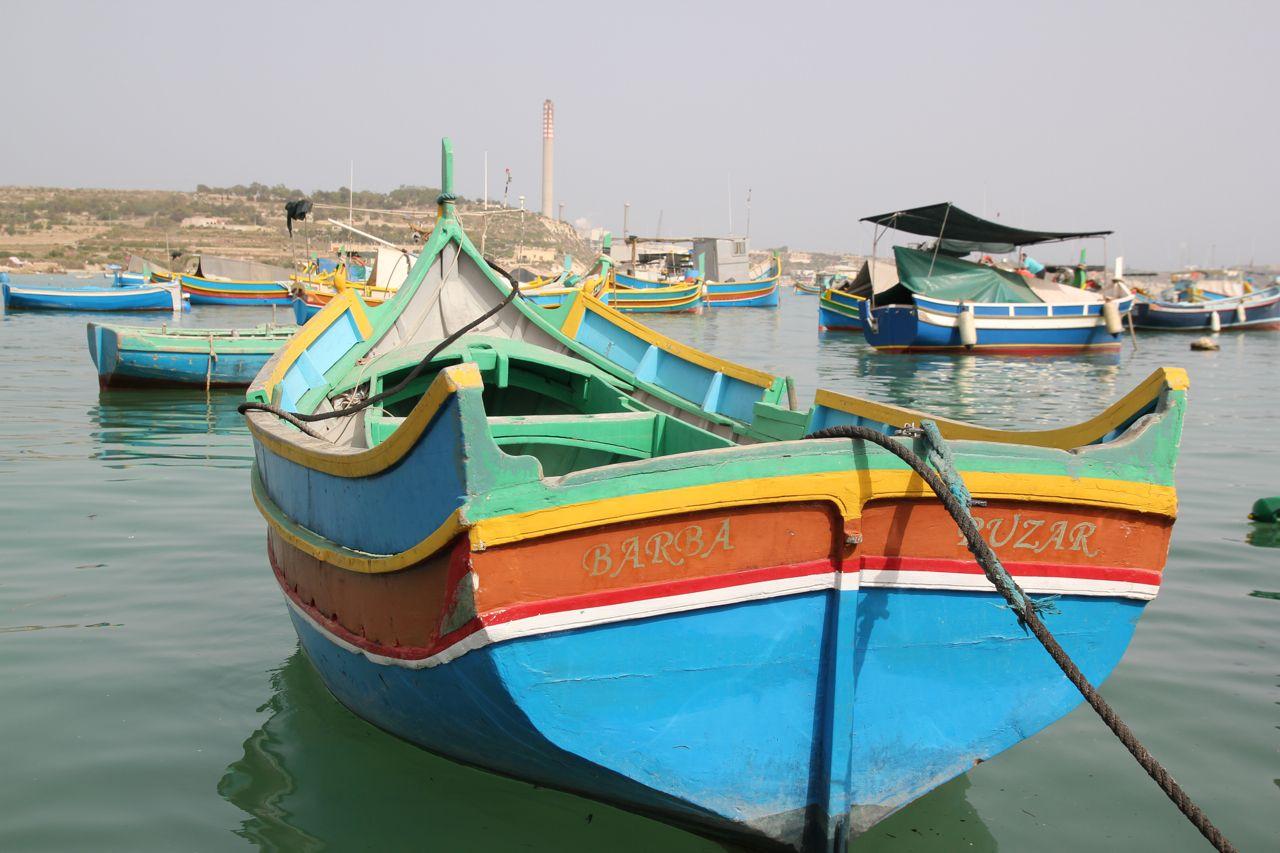 Malta fishing boats.