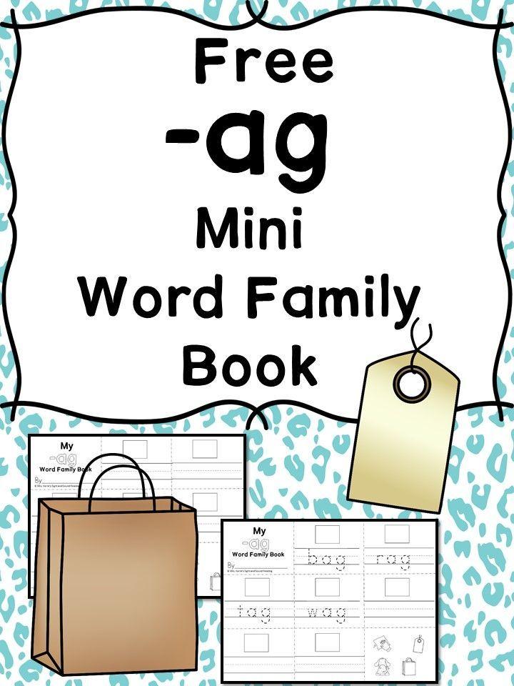 2 Free Worksheets: CVC Words AG Family | Pinterest