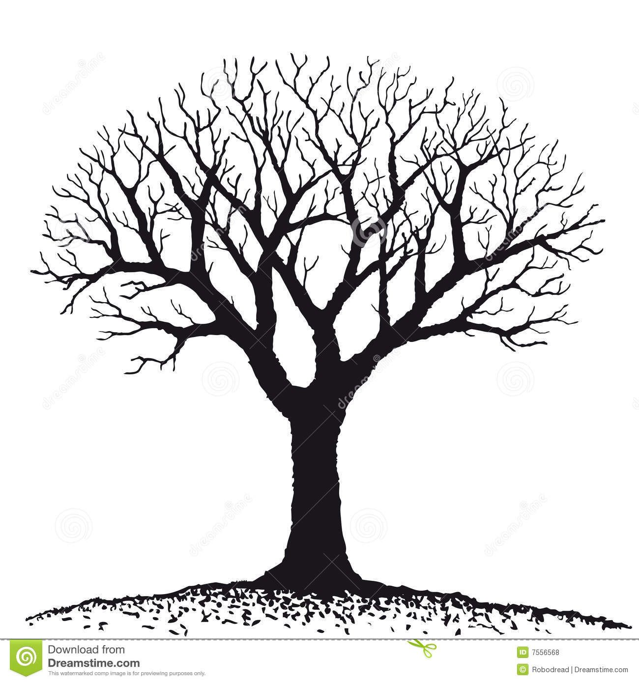 bare tree clipart Free Large Images Tree coloring page