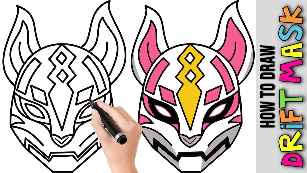 How To Draw Drift Mask Fortnite Cute Easy Drawing Tutorial