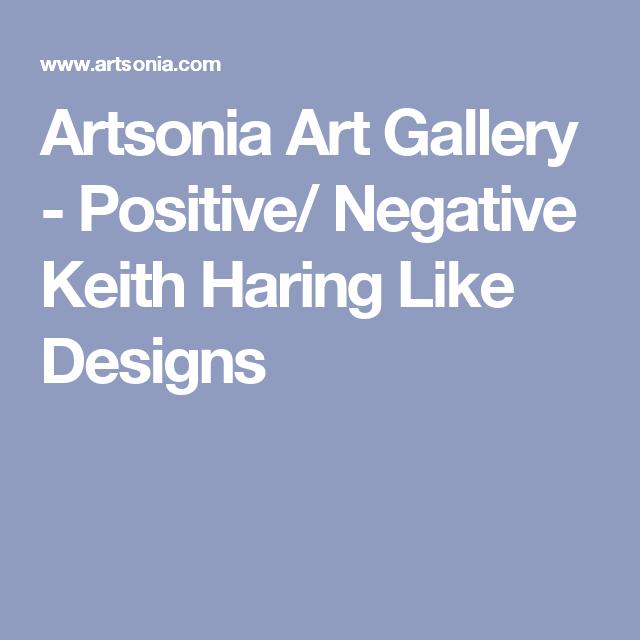 Artsonia Art Gallery - Positive/ Negative Keith Haring Like Designs