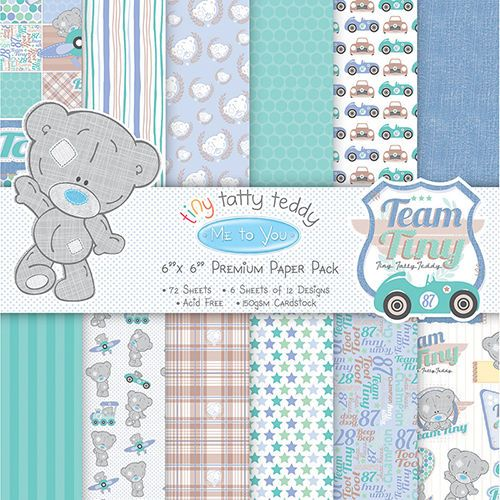 "ME TO YOU TINY TATTY TEDDY BOY 12 X  6/"" X 6/"" SAMPLE PAPERS FOR CARDS AND CRAFTS"