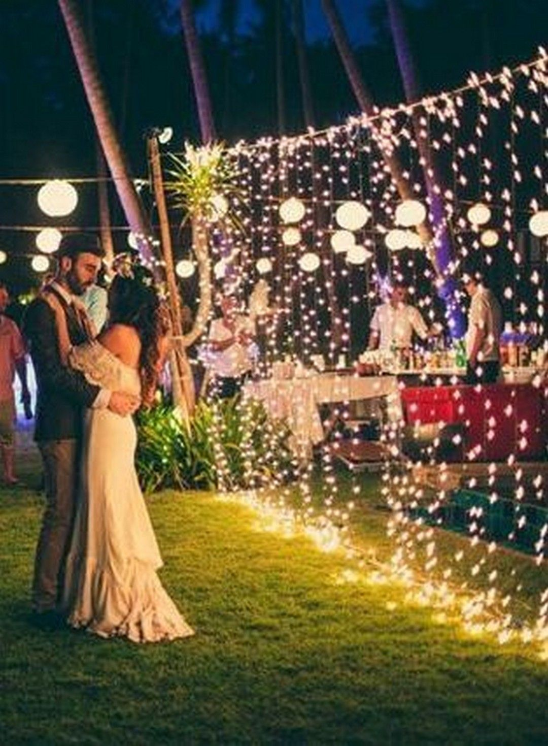 Garden wedding decorations night  cool  Sweet Ideas for Romantic Backyard Outdoor Weddings