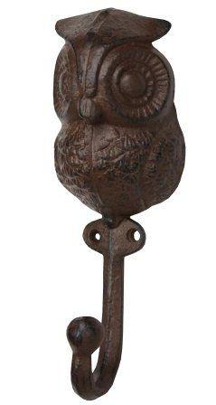 Amazon Com Cast Iron Owl Decorative Wall Hook Home Kitchen Decorative Wall Hooks Owl Kitchen Owl Decor