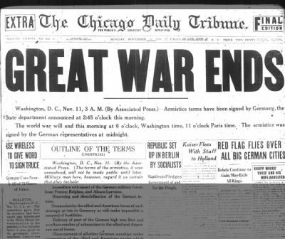 006 Todayin History 11/11/1918 Armistice Day The End of