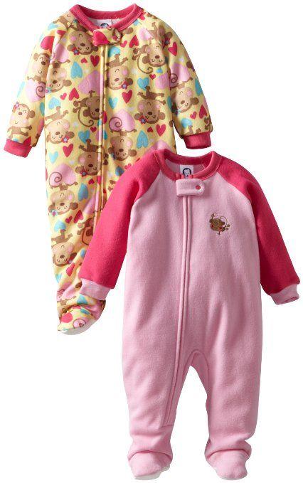 Comprado na Amazon. Amazon.com  Gerber Baby-Girls Newborn 2 Pack ... bd5c369e8