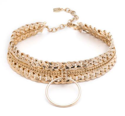 Dannijo Zig Chain Choker Necklace JNKLErS