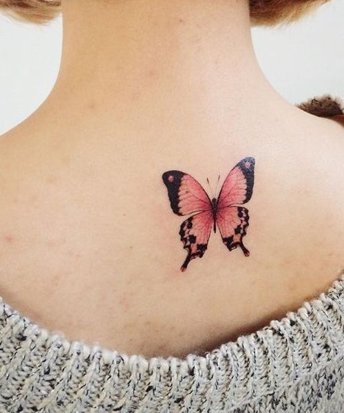 Pink Butterfly Tattoos : butterfly, tattoos, Cutest, Butterfly, Tattoo, Design, Women, Dinga, Poonga, Tattoo,, Tattoos,