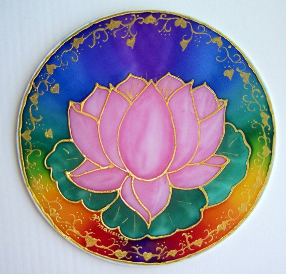 Mandala Balanced Heart Chakra  yoga art by HeavenOnEarthSilks, $32.00