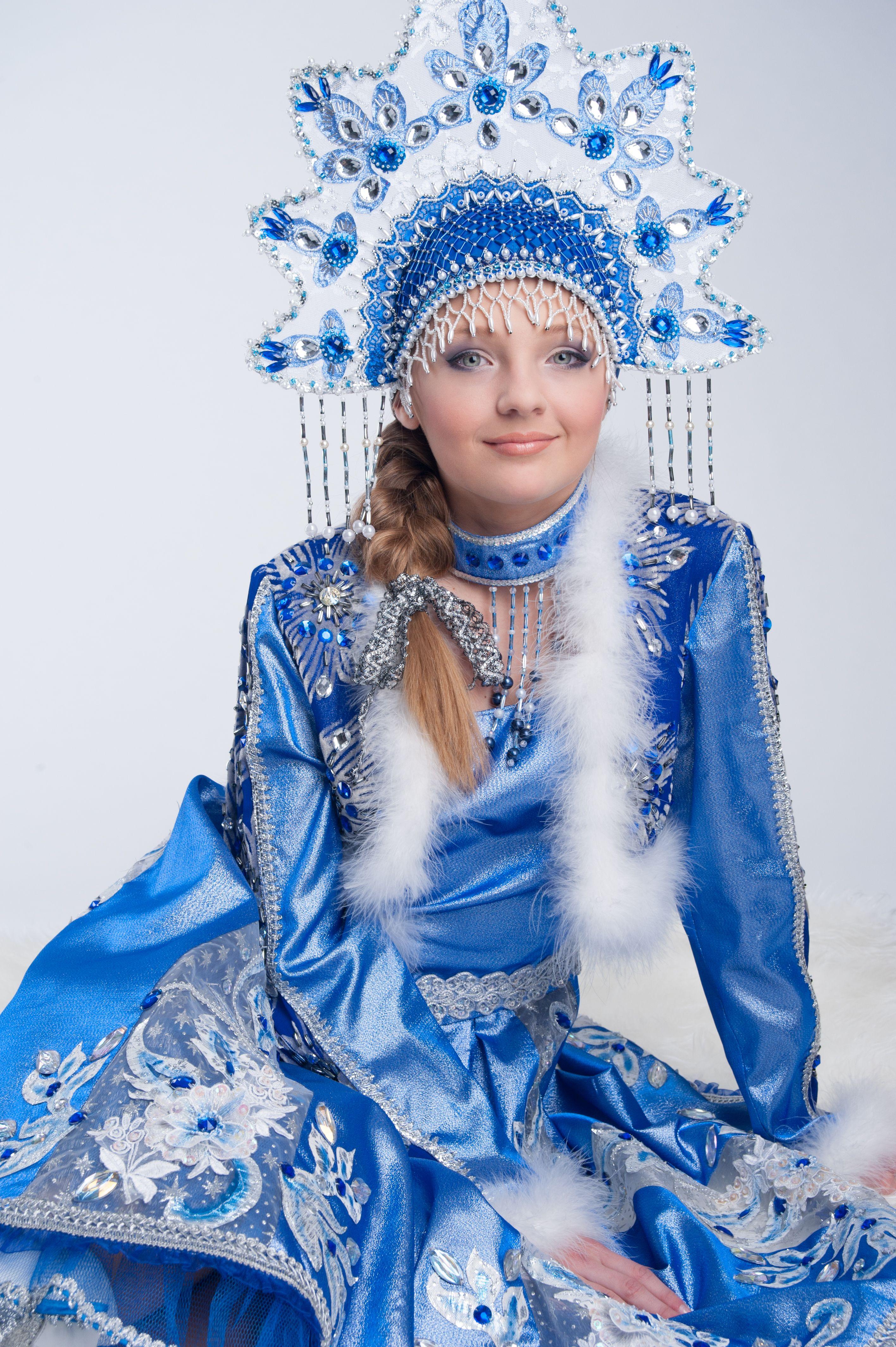 Russian Costume Kokoshnik Stylization  Snegurechcka -9836