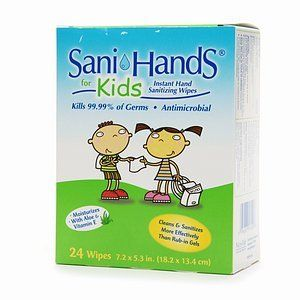 Sani Hands For Kids Antimicrobial Alcohol Gel Hand Wipes 8 X 5 33