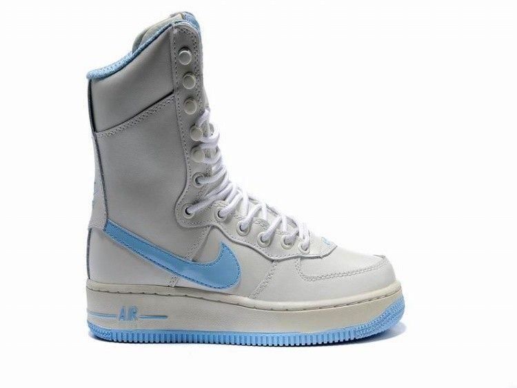 meet 5fb60 895f1 Nike Air Force 1 Women Boots White Skyblue! 64.40USD