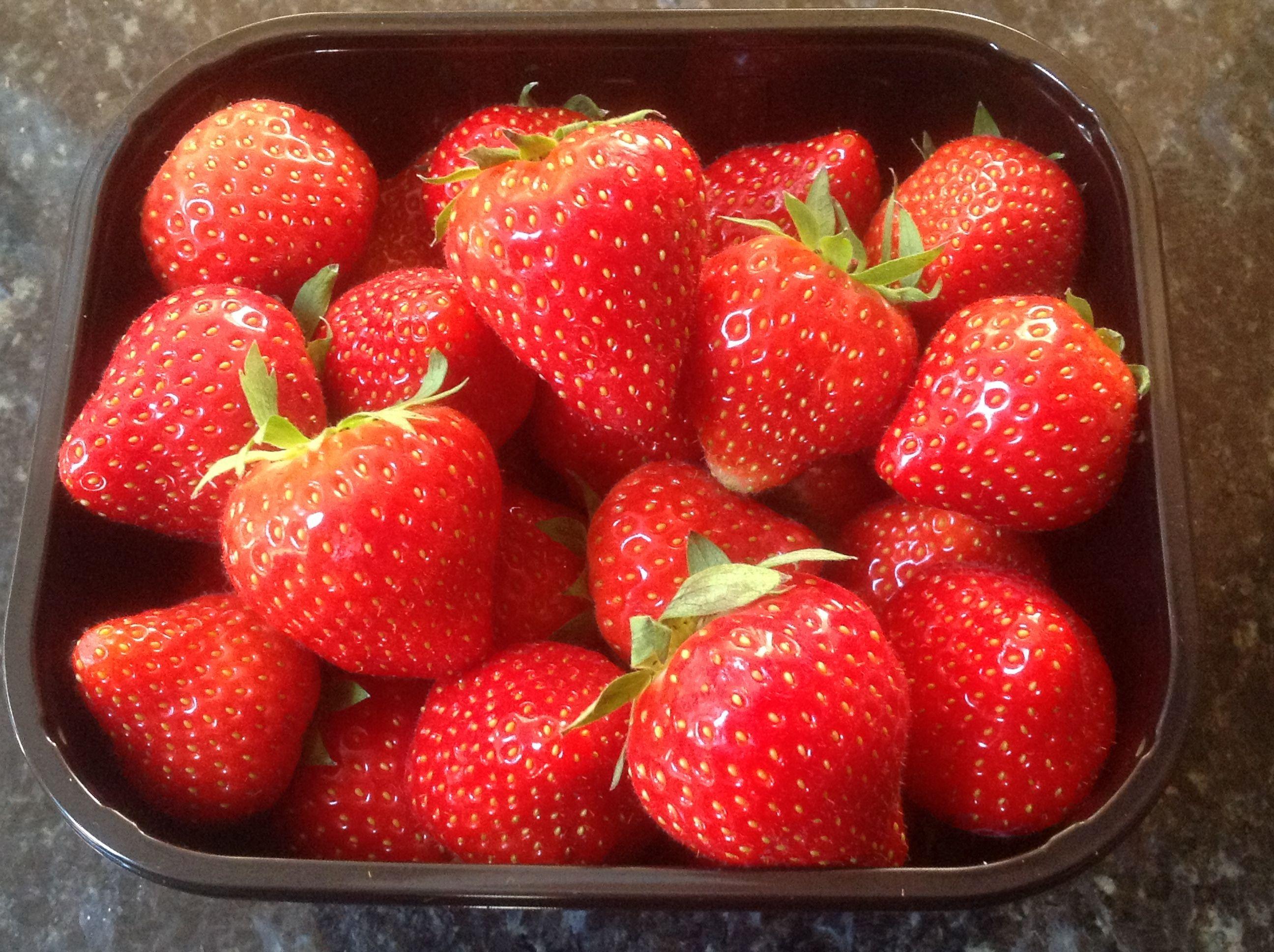 Beautiful shiney strawberries