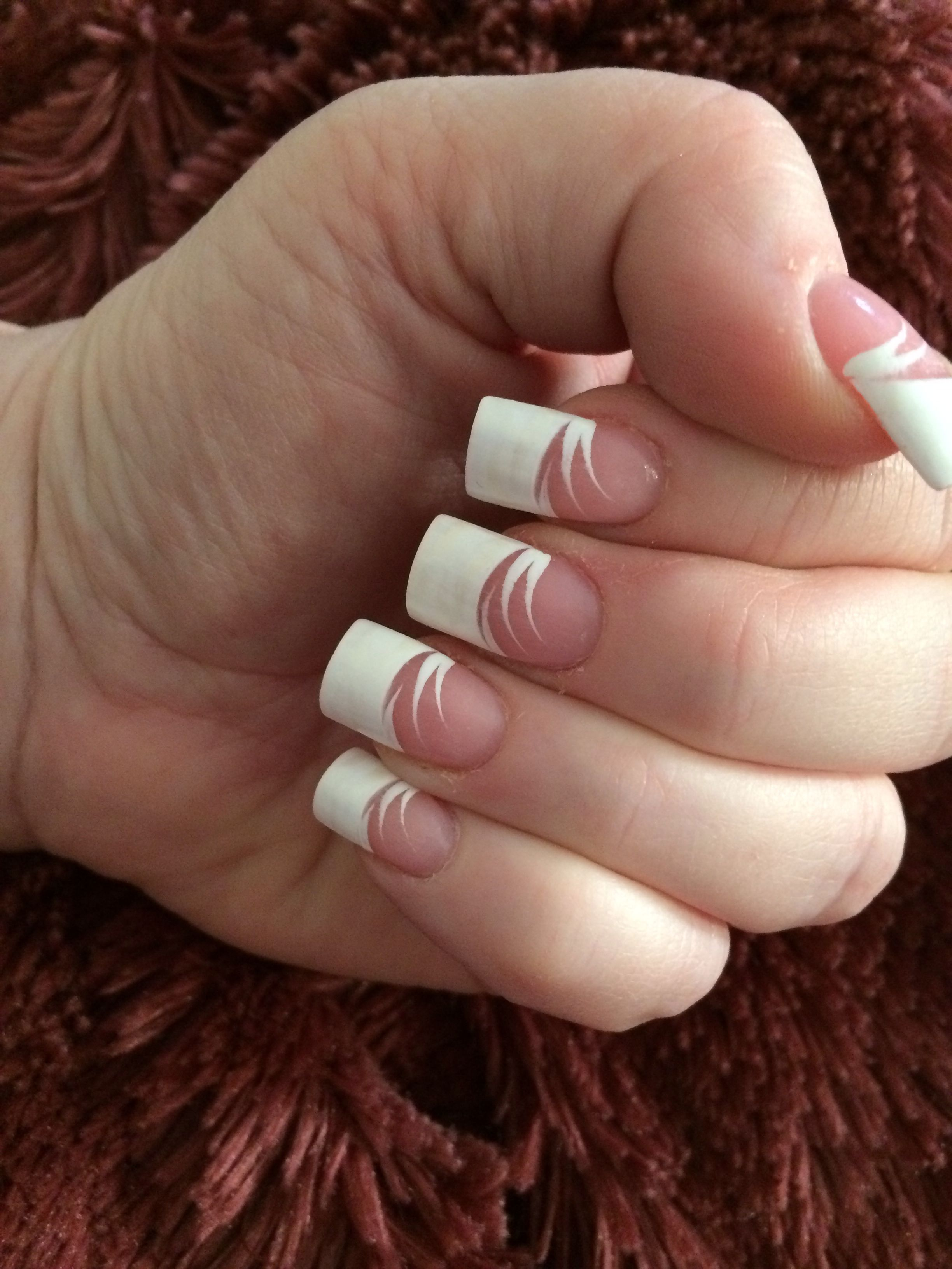 French Tip...Just because nails... Love them. Van@ fancy nails ...