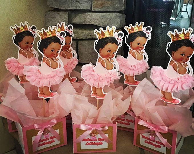 Baby girl centerpieces baby shower birthday party royal baby princess party table - African american party ideas ...