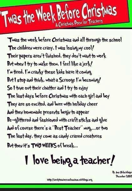 teachers night before christmas - Twas The Night Before Christmas Funny